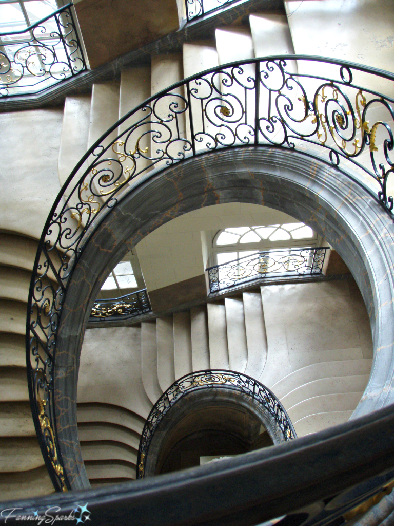 Art Nouveau wrought iron staircase in Nancy France @FanningSparks
