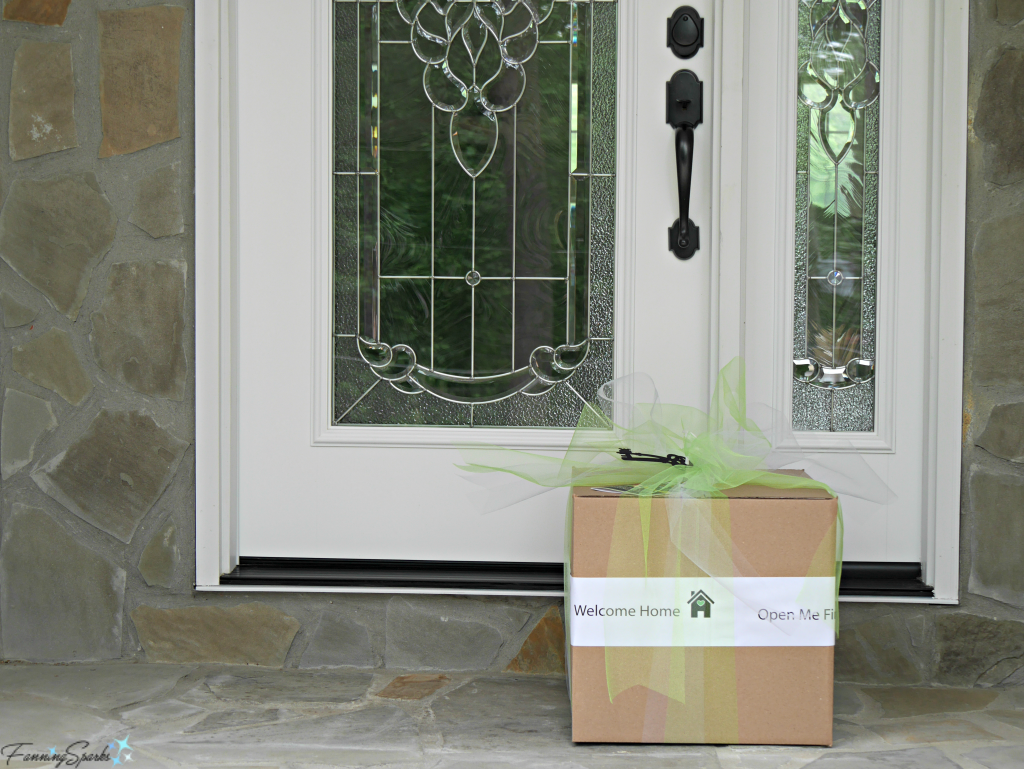 Open Me First Welcome Home move in package awaits recipients on their doorstep. @FanningSparks