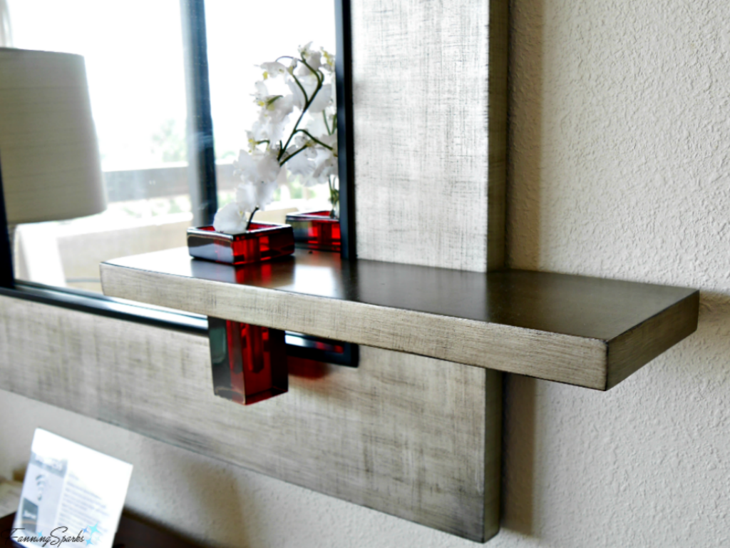 Mirror with integrated shelf and vase. @FanningSparks