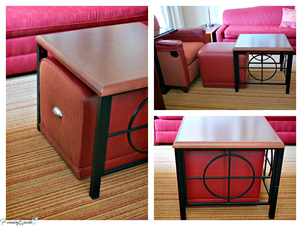 Integrated ottoman and coffee table at Residence Inn in Florence Alabama. @FanningSparks