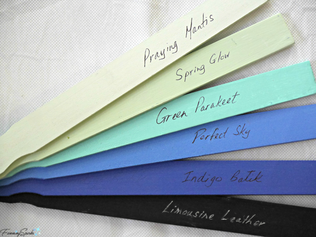 Paint and label paint sticks to use for color references. @FanningSparks