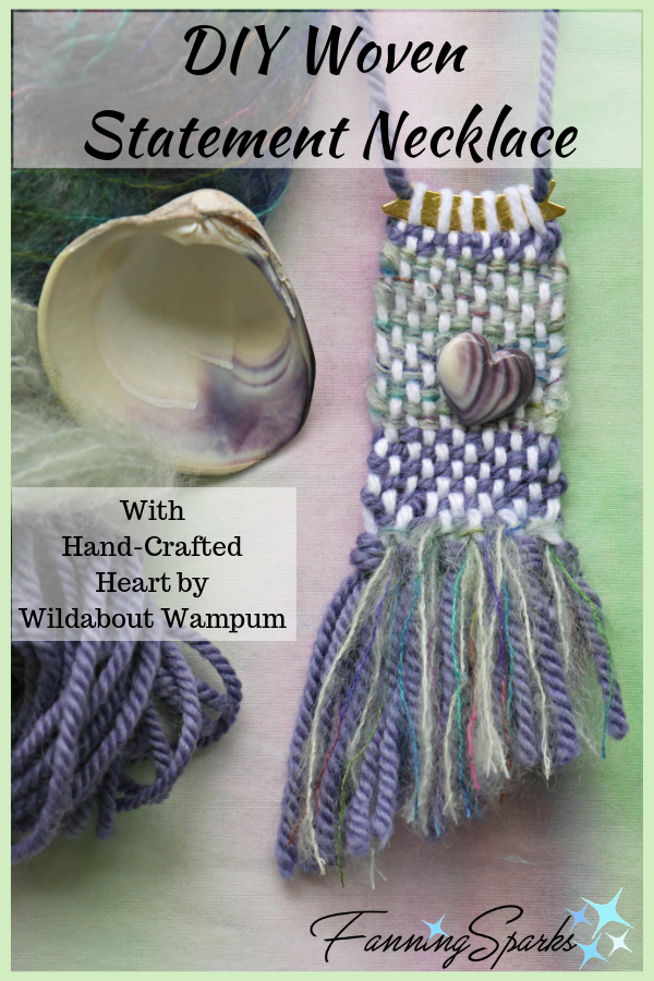 FanningSparks DIY Woven Statement Necklace with Wildabout Wampum Heart Pin. @FanningSparks