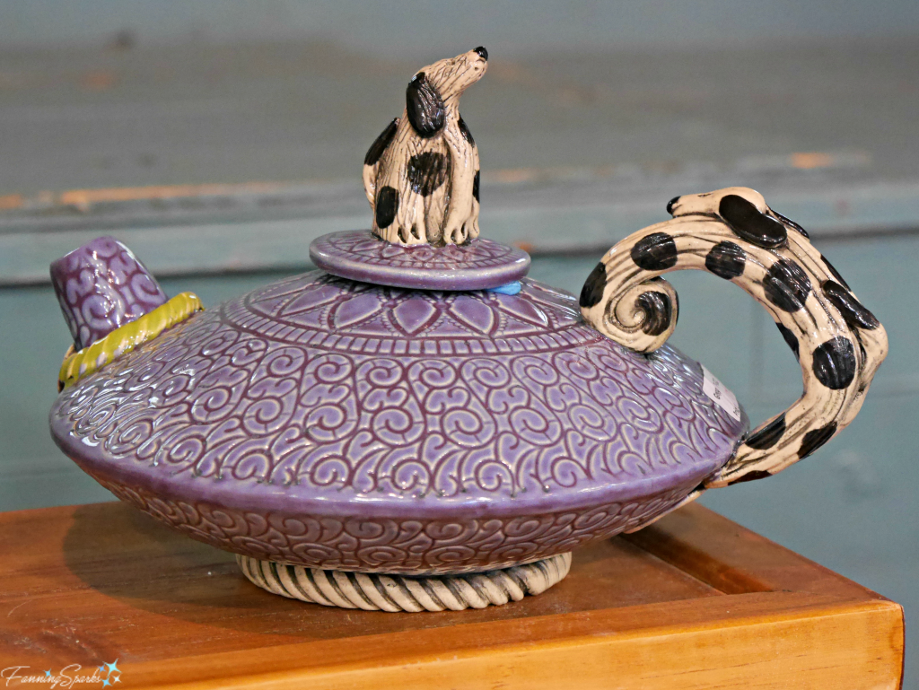Teapot by Barry Gregg Clayworks at Perspectives Georgia Pottery Invitational 2018. @FanningSparks