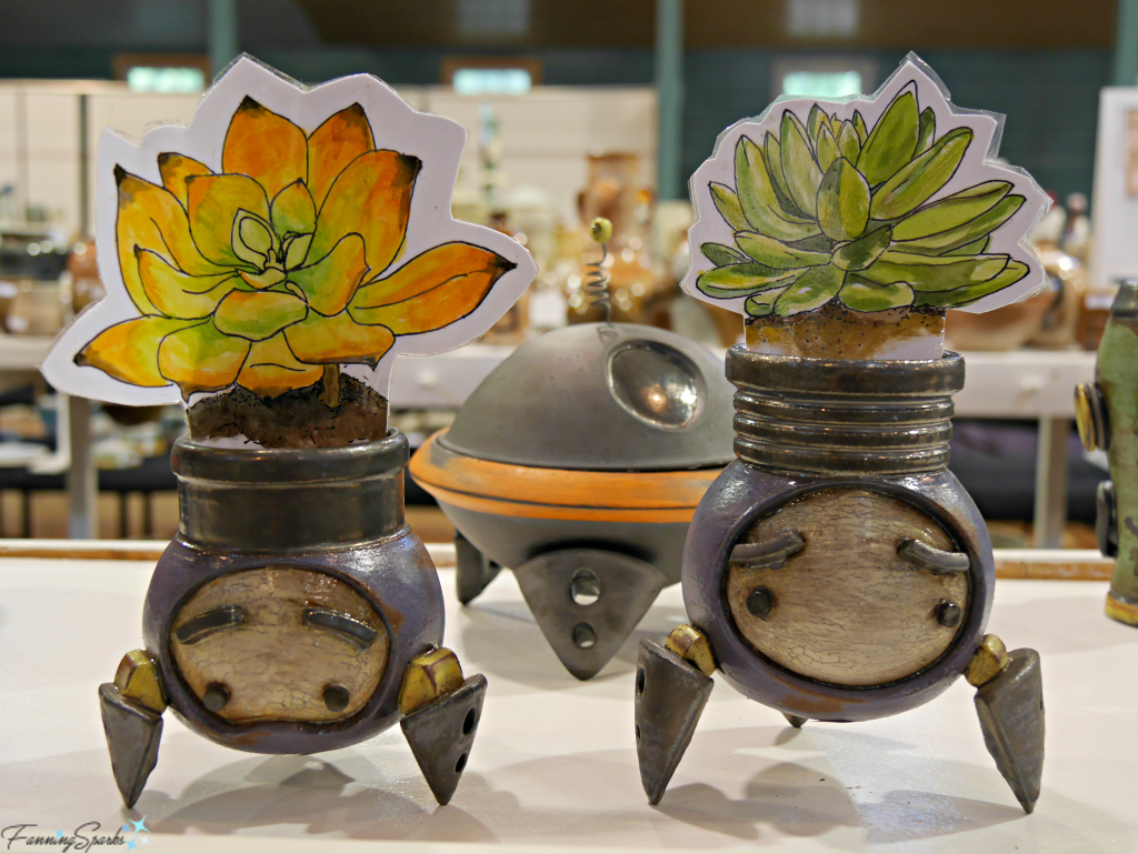 Plant Pots by Michael Klapthor at Perspectives Georgia Pottery Invitational 2018. @FanningSparks