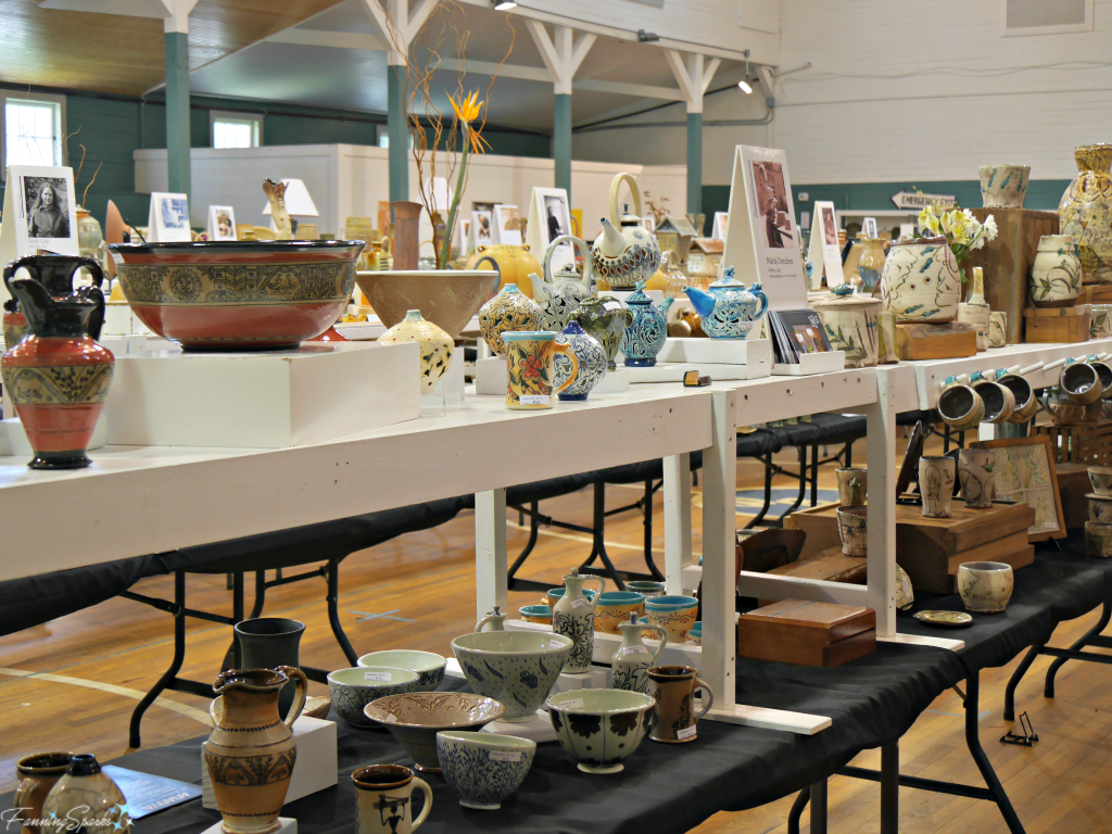 OCAF Pottery Sale in Rocket Hall at Perspectives Georgia Pottery Invitational 2018. @FanningSparks