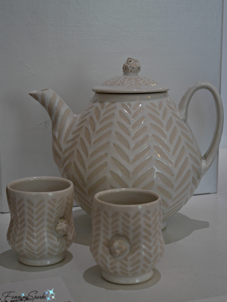 Tea Set by Vernon Smith at Perspectives Georgia Pottery Invitational 2018. @FanningSparks