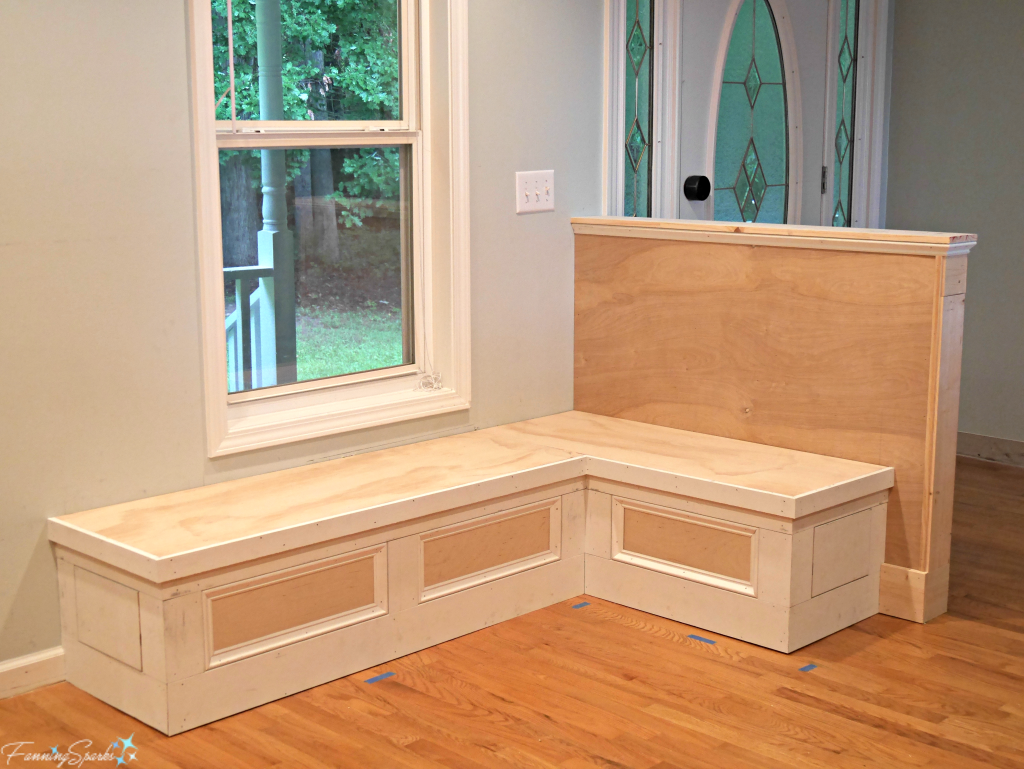 Pony Wall and Banquette With Trim Under Construction. @FanningSparks