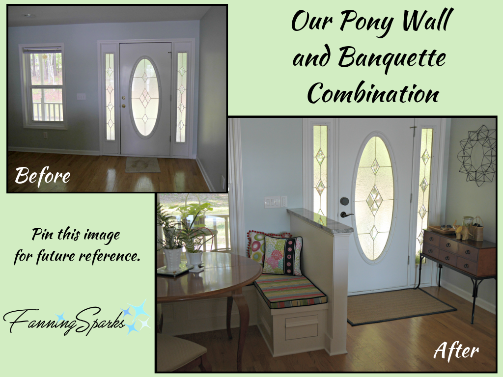 Before and After of Front Entry Directly Into Kitchen. @FanningSparks