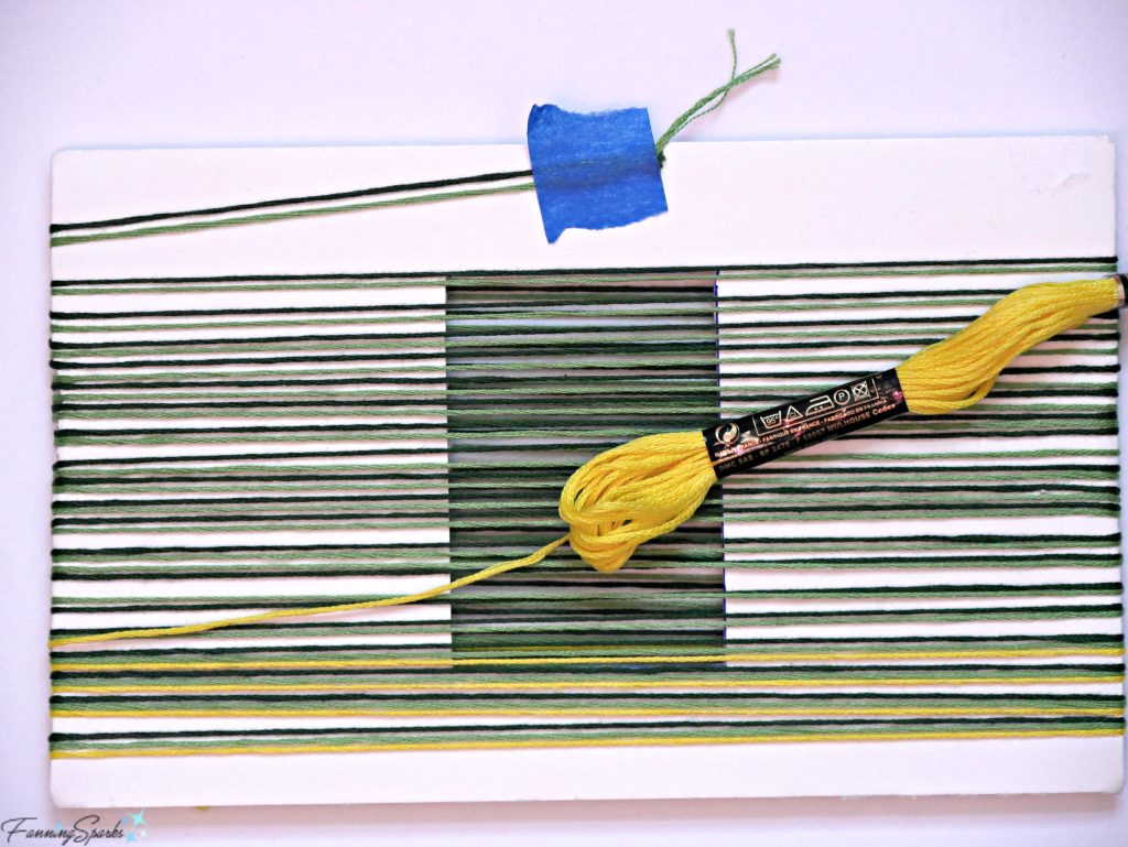 Wrap Embroidery Floss Around Tassel Maker Template. @FanningSparks