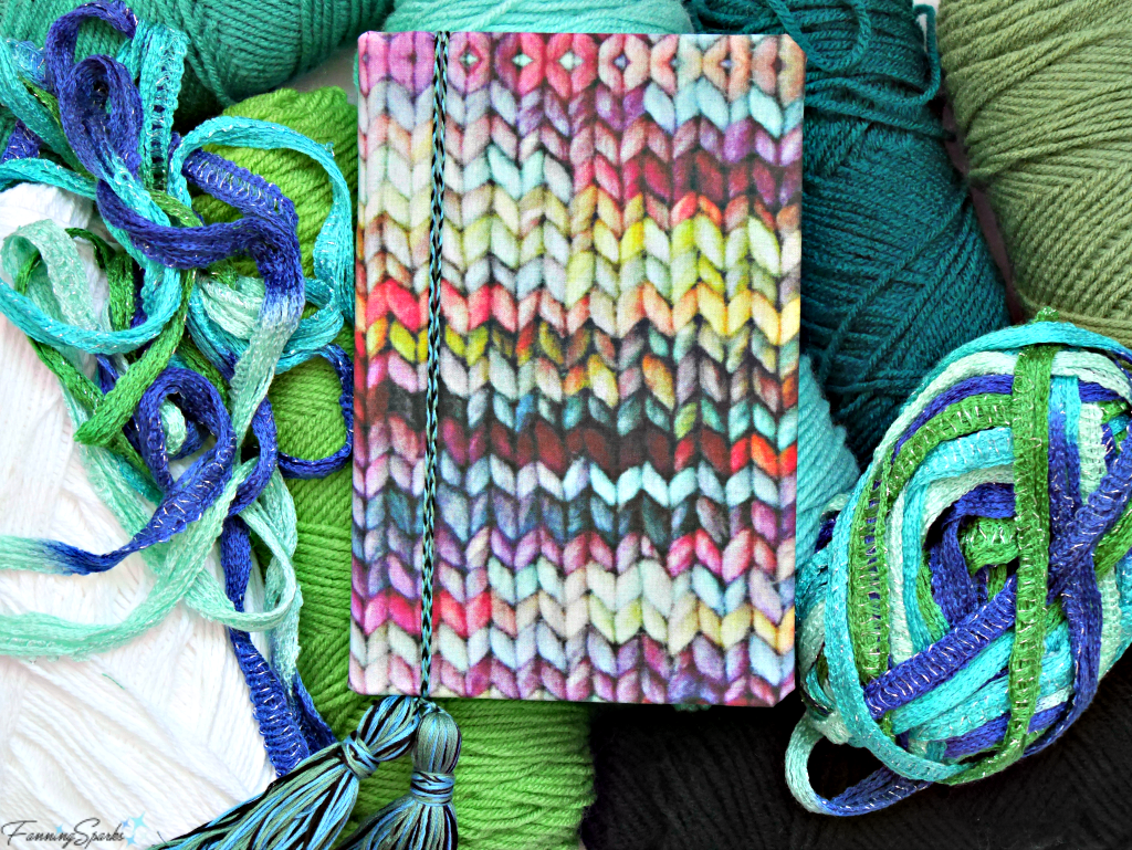 Knitting Journal Made With FanningSparks DIY Personalized Fabric-Covered Journal Tutorial. @FanningSparks