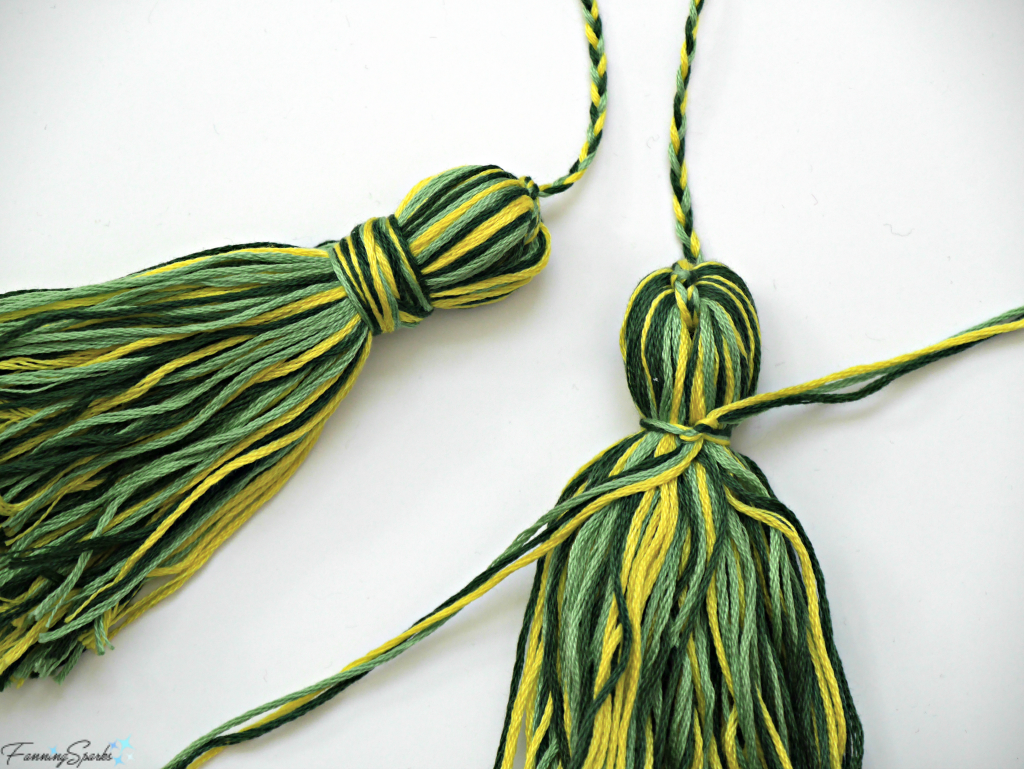 Finish Tassel By Wrapping Embroidery Floss Around Head. @FanningSparks