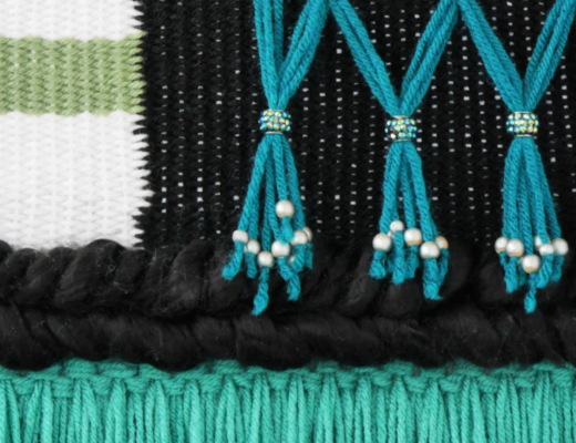 Textured Details of Woven Wall Hanging Designed and Made by FanningSparks. @FanningSparks