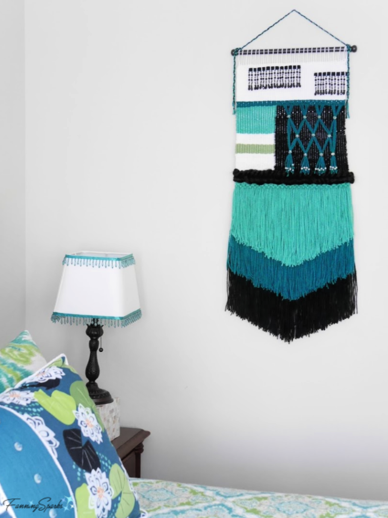 Woven Wall Hanging Designed and Made by Peg Frizzell.   @FanningSparks
